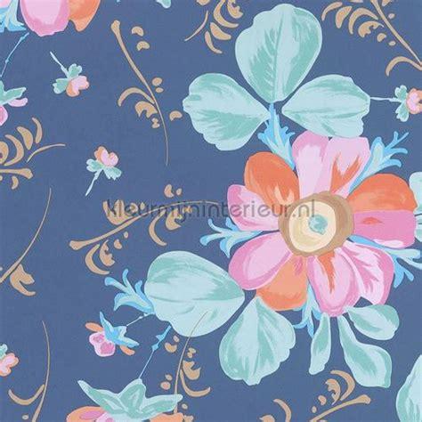 bloemen pastel pastel bloem blauw 359044 behang rice eijffinger
