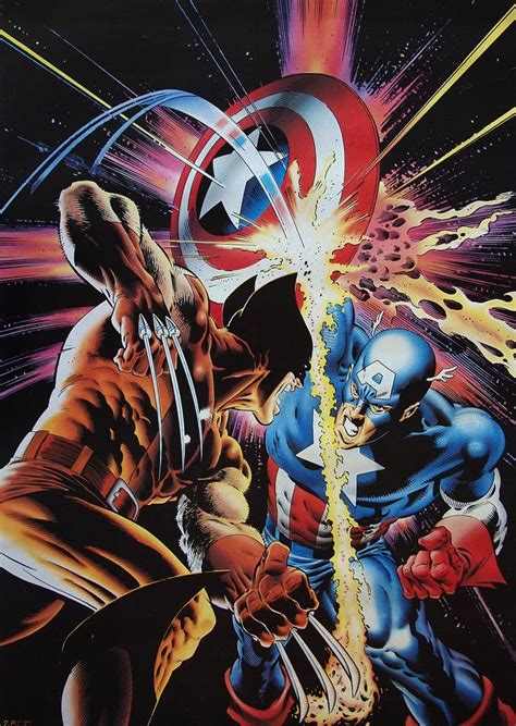 captain america vs wolverine wallpaper wolverine v captain america by mike zeck marvel comics