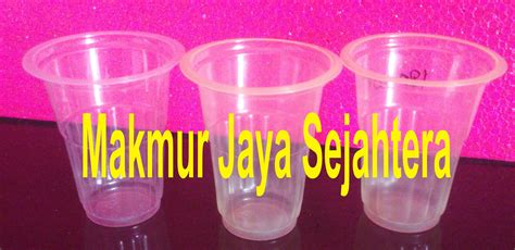 Gelas Sloki Kecil 1 Dus 6 Pcs jual gelas plastik kecil harga murah sidoarjo oleh makmur jaya sejahtera