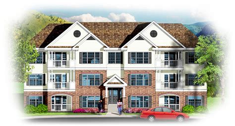 Hillside Floor Plans 3 Story 12 Unit Apartment Building 83117dc Architectural