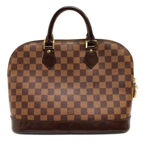 Lv Alma Damier 1 louis vuitton alma mm damier canvas handbag for sale at 1stdibs