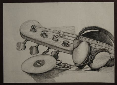 3d Drawing music ninga a pencil drawing i did focusing on music