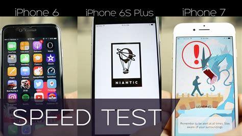 iphone 7 vs iphone 6s plus vs iphone 6 speed comparison iphone 7 speed test 6s master race
