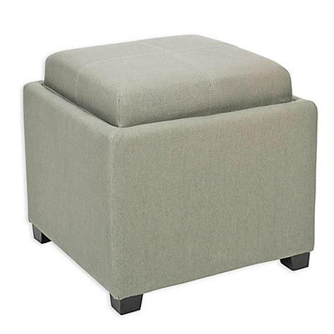 off white leather ottoman safavieh harrison single tray storage ottoman bed bath