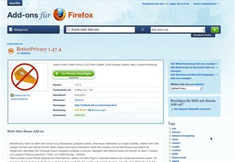 better privacy firefox better privacy l 246 scht flash cookies golem de