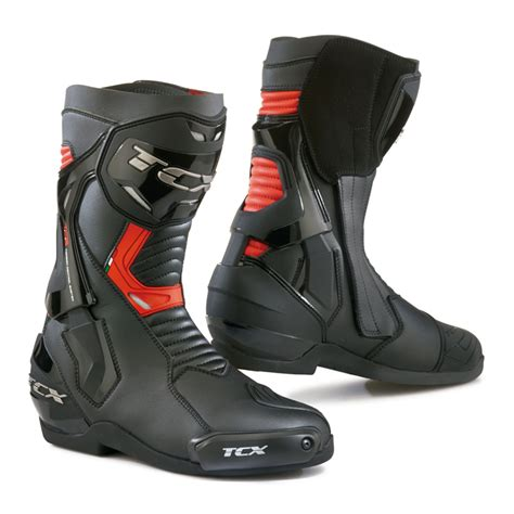 bottes racing tcx st fighter noirrouge steam motos