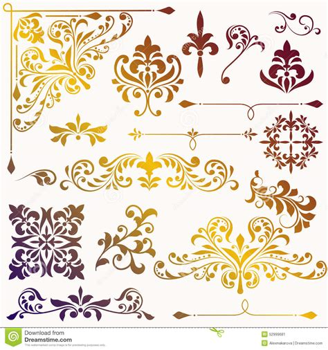 vintage floral elements for design vector stock vector vector vintage floral design elements stock vector image