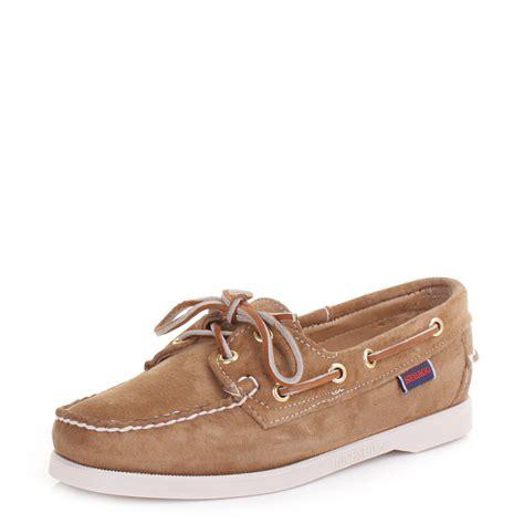 Sebago Kedge Tie Suede Original womens sebago docksides sand suede moccasin boat deck shoes ebay