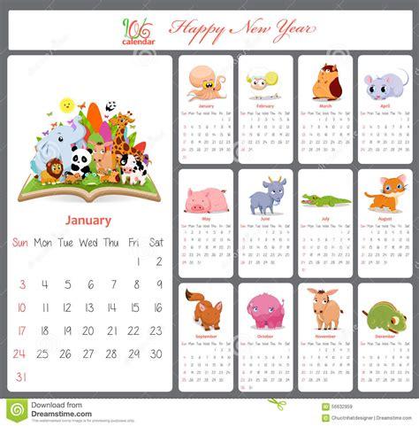 printable calendar 2016 cartoon unusual calendar for 2016 with cartoon and funny animals