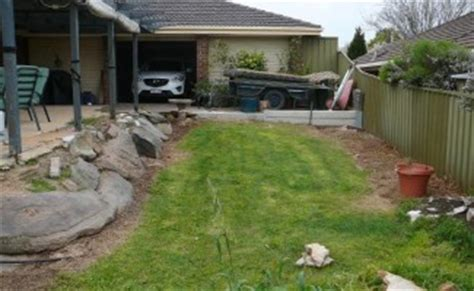 sloped backyard before and after garden landscaping ideas for sloping gardens adelaide