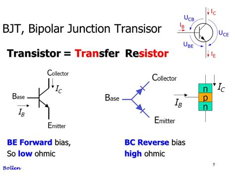 resistor bias transistor bjt bipolar junction transisor ppt
