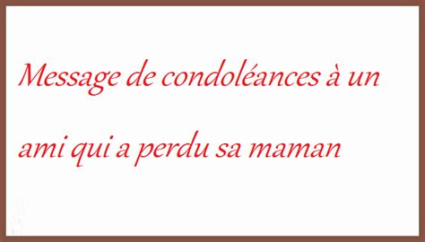 Modele Message Condoleance