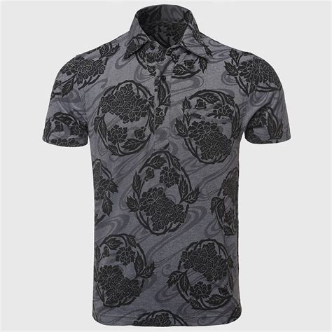pattern shirts hd swag 3d print polo shirts men flower pattern slim polo