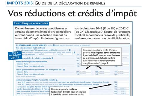 Credit Impot Formation Dirigeant 2014 Notice R 233 Ductions Et Cr 233 Dits D Imp 244 T Le Revenu