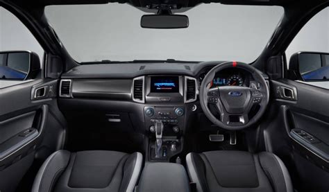 ford ranger interior 2018 ford ranger raptor unveiled gets 2 0tt with 10 spd