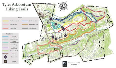 living room hike map hiking trails arboretum