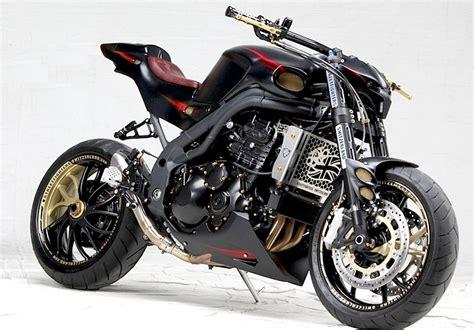 Motorrad Streetfighter Heck by Streetfighter Nosferatu Auf Basis Der Triumph Speed