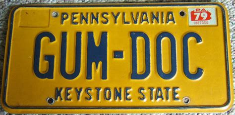 Pa Vanity License Plate by Pennsylvania License Plates