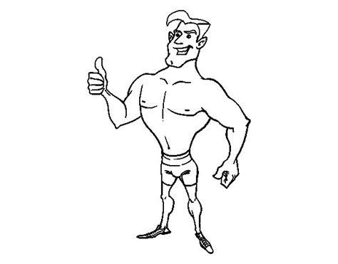 imagenes de hombres fuertes para colorear dibujo de hombre en ba 241 ador para colorear dibujos net