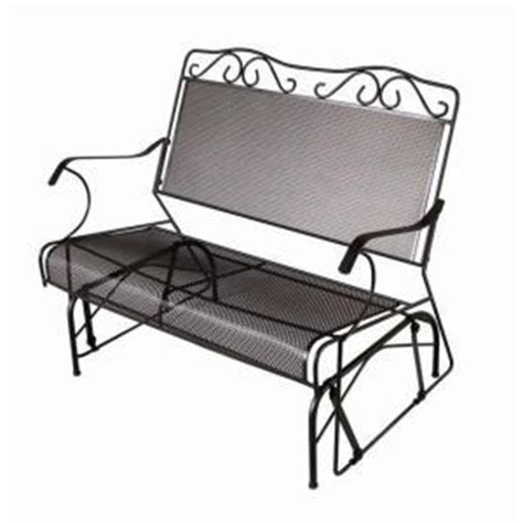 wrought iron patio glider bench new outdoor 2 two seater wrought iron glider bench ebay