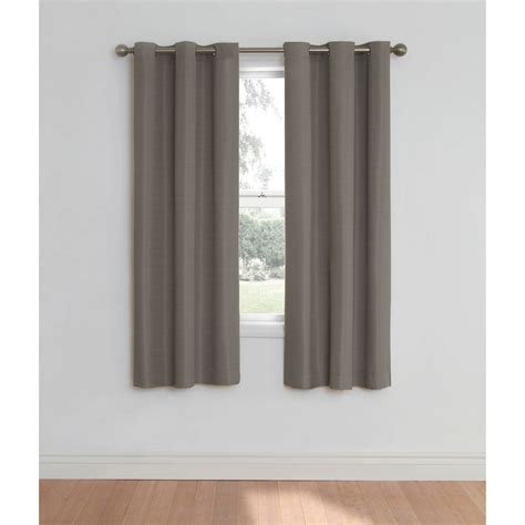 40 inch long window curtains cadenza microfiber window panel set of 2 walmart com