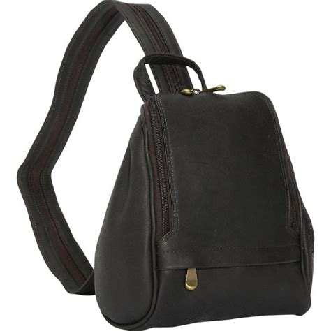 David King Leather Rectangular Mid Size Backpack
