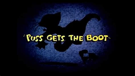 Hoorah Glocksen Gets Ai Boot by Puss Gets The Boot Reissued Title Card 1940s Recreation