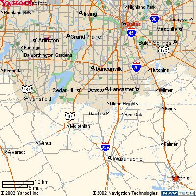 map of ennis texas map page