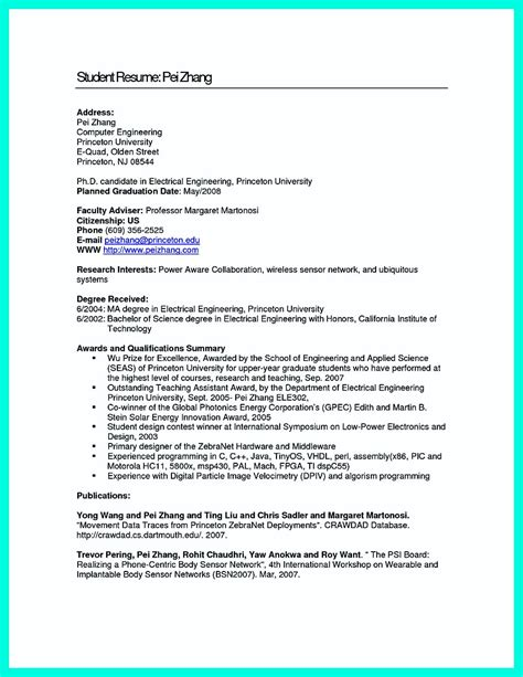 Sle Computer Science Resume by Computer Engineering Resume Sles 28 Images Free