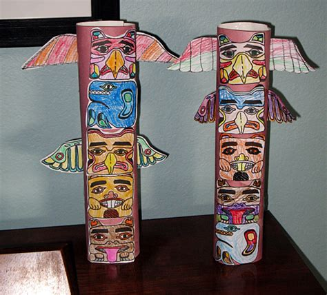 How To Make A Paper Totem Pole - american totem pole craft for