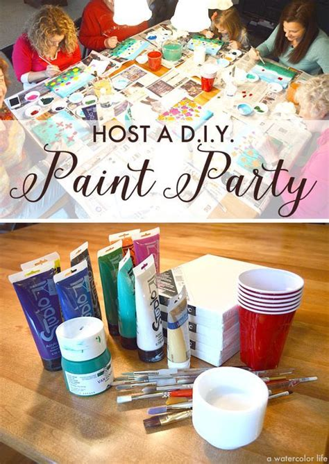 Host A Diy Painting Party For  Ee  Birthday Ee