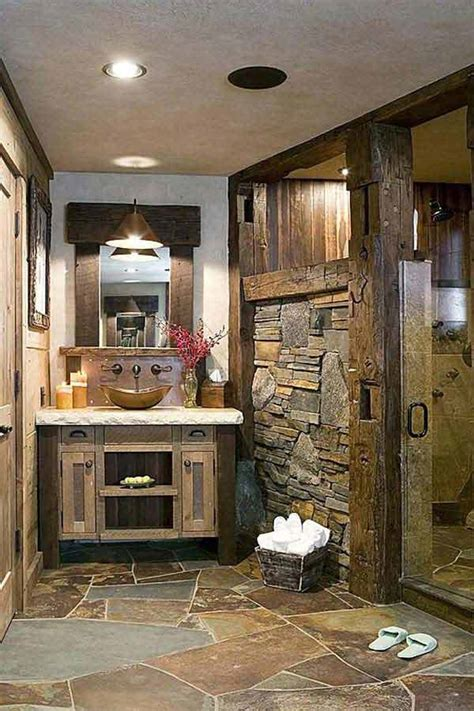 Cabin Bathroom Ideas 30 Inspiring Rustic Bathroom Ideas For Cozy Home Amazing Diy Interior Home Design
