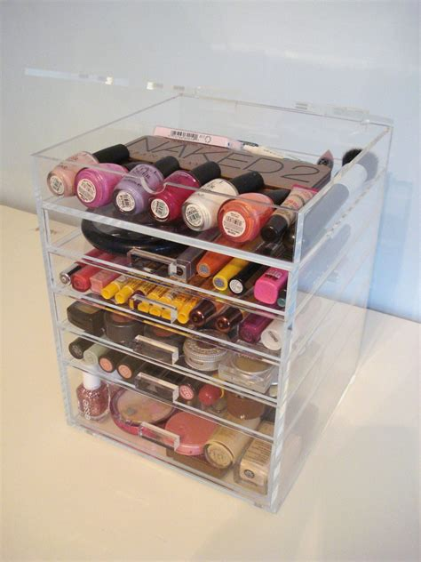 Drawer Inserts For Makeup by Minimalist Interior With Acrylic Makeup Organizers