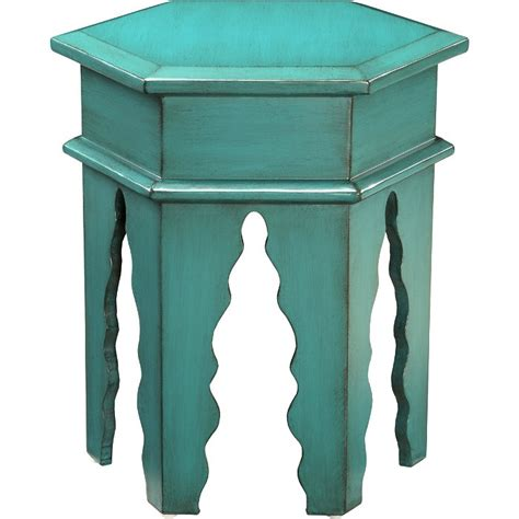 teal accent table finola accent table in teal furniture pinterest