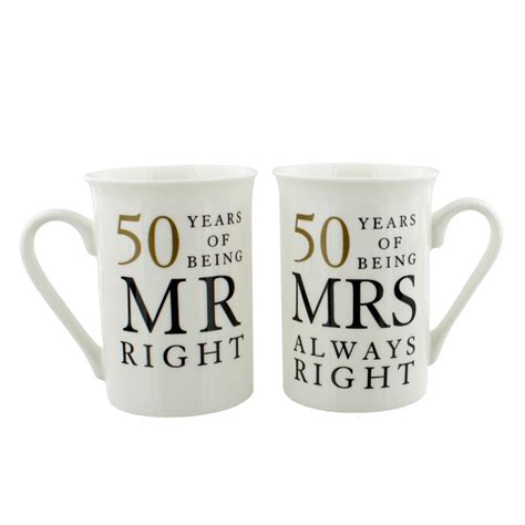 wedding anniversary gifts next day delivery mug gift set 50 years of being mr mrs always right