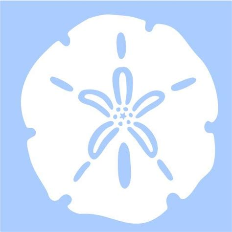 sand dollar stencil marine sea ocean stencils background