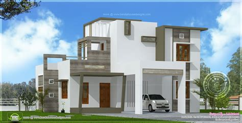contemporary style house in 2300 square kerala home