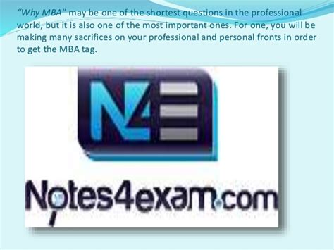 Importance Of Mba by Importance Of Mba