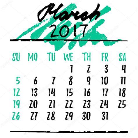 Calendario De Letra Grade De Calend 225 Letras Para 2017 Mar 231 O De Vetor