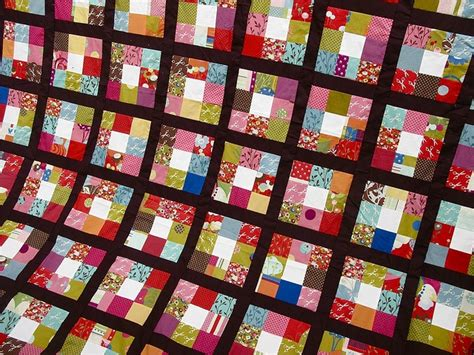 scrappy nine patch quilts