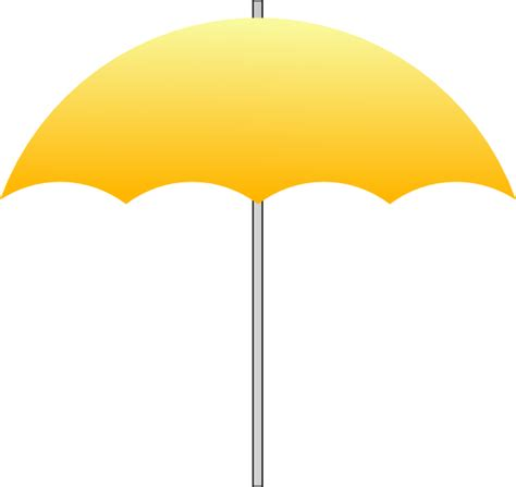 Simple Umbrella by Simple Golden Umbrella Clip At Clker Vector Clip