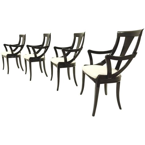 black lacquer dining room chairs sculptural black lacquer dining chairs by pietro