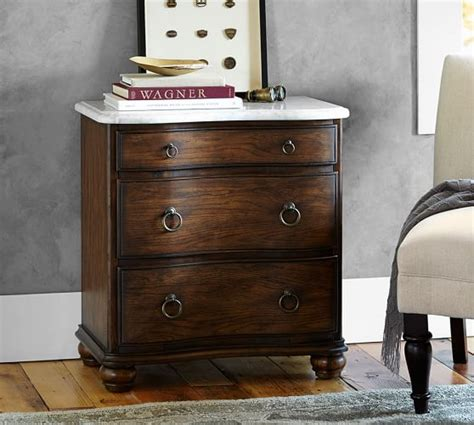 marble top bedside table sansome marble top bedside table pottery barn