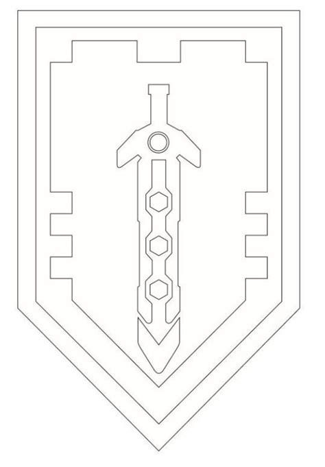 Coloring Pages Knights Shields | coloring page lego nexo knights shields 6 on kids n fun co