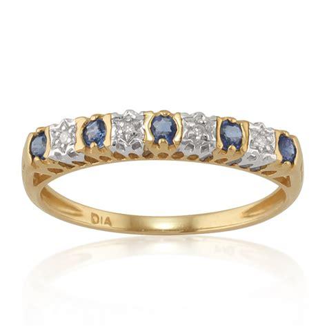 Blue Sapphire 5 24 Ct 9ct yellow gold 0 24ct sapphire half