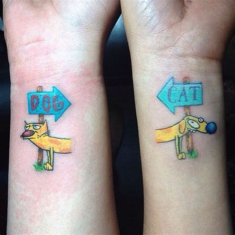 catdog tattoo best friend tattoos for bff matching friendship tattoos
