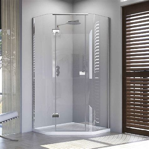 Matki Shower Doors Matki Illusion Quintesse Corner Shower Enclosure With Tray Shower Enclosures Cp Hart