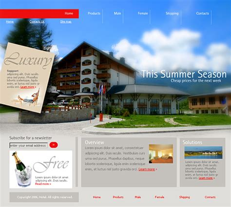 0973 travel hotel website templates dreamtemplate