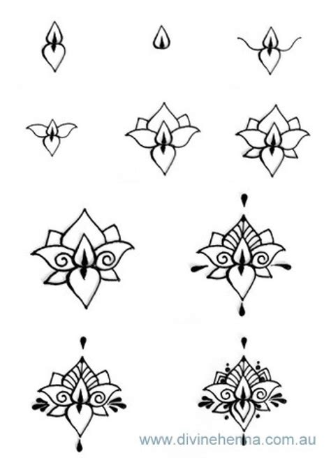 henna tattoo design step by step design tutorials henna designs hennas and lotus