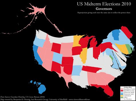 us election 2010 mapping senators and governors views